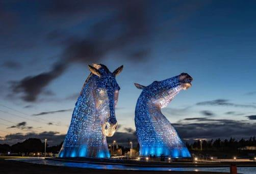 Summer Solstice at the Kelpies