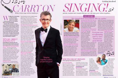 danceSing in Prima Magazine